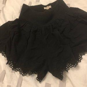 Rebecca Taylor black shorts